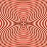 Gestreiftes rotes weißes Muster Wellen-Beschaffenheitshintergrund der abstrakten Wiederholung runder Stockbild