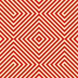 Gestreiftes rotes weißes nahtloses Muster Eckige Linien Beschaffenheitshintergrund der abstrakten Wiederholung Lizenzfreie Stockfotografie