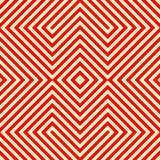 Gestreiftes rotes weißes nahtloses Muster Eckige Linien Beschaffenheitshintergrund der abstrakten Wiederholung Stockbild