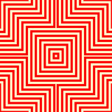 Gestreiftes rotes weißes nahtloses Muster Eckige Linien Beschaffenheitshintergrund der abstrakten Wiederholung Stockbilder
