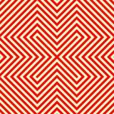 Gestreiftes rotes weißes nahtloses Muster Eckige Linien Beschaffenheitshintergrund der abstrakten Wiederholung Lizenzfreie Stockbilder