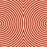Gestreiftes rotes weißes nahtloses Muster Wellen-Beschaffenheitshintergrund der abstrakten Wiederholung runder Lizenzfreies Stockfoto