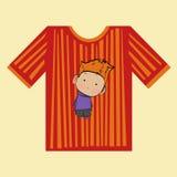 T-Shirt Jungenstreifen Lizenzfreies Stockbild