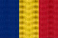 Gestrickte Flagge von Rumänien Lizenzfreie Stockbilder