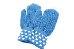 Gestrickte Handschuhe Stockfotografie