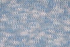 Gestrickte Hintergrund-, Blaue und weißefarbe, gewirkter Hintergrund Lizenzfreies Stockbild