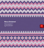 Gestrickte Illustration des Vektors Weihnachten Lizenzfreie Stockfotos
