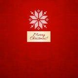 Gestrickte Karte der frohen Weihnachten skandinavische Art lizenzfreie abbildung