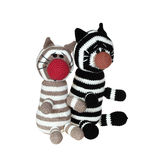 Gestrickte Katzen Lizenzfreies Stockfoto