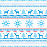 Gestrickte Motive des Weihnachtshintergrundes angemessene Insel Stockfotos