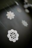 Gestrickte Schneeflocken Stockbilder