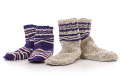 Gestrickte Socken Stockbilder