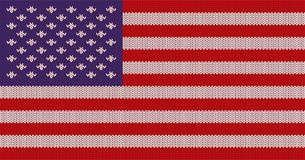 Gestrickte US-Flagge Lizenzfreie Stockbilder
