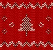 Gestrickte Weihnachtsverzierungen vektor abbildung