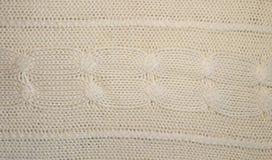 Gestrickte woolen Beschaffenheit Gestricktes Muster Lizenzfreies Stockfoto