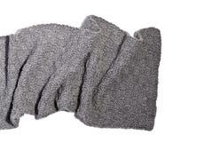 Gestrickter grauer Schal stockbild