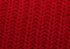 Gestrickter großer zähflüssiger Stoff der Beschaffenheit Rot Stockbilder