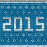 Gestrickter Hintergrund des neuen Jahres Stockfoto