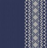 Gestrickter Hintergrund mit Muster Lizenzfreies Stockbild