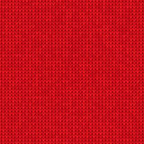Gestrickter roter Hintergrund Lizenzfreie Stockbilder