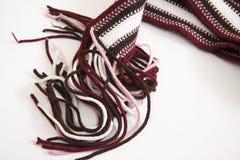 Gestrickter Schal und schwarzer dünner Gurt Lizenzfreie Stockbilder