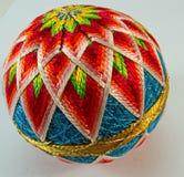 Gestrickter silk Ball der Weinlese Japaner Lizenzfreies Stockfoto
