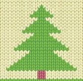 Gestrickter Weihnachtsbaum Lizenzfreies Stockbild