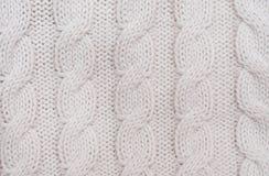 Gestrickter woolen Hintergrund Stockbilder
