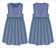 Gestricktes blaues Kleid Stockbild