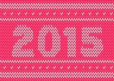 gestricktes Design des neuen Jahres 2015 Lizenzfreie Stockbilder