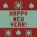 Gestricktes Muster des neuen Jahres Lizenzfreie Stockbilder