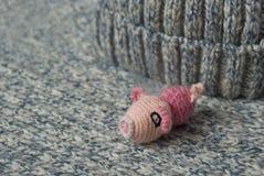 Gestricktes Schwein stockbild