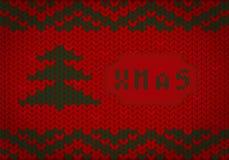 Gestricktes Weihnachten stock abbildung