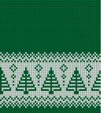 Gestricktes Weihnachts- und des neuen Jahresmuster Lizenzfreie Stockfotos