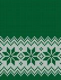Gestricktes Weihnachts- und des neuen Jahresmuster Lizenzfreies Stockfoto