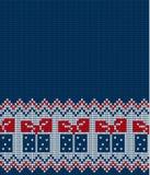 Gestricktes Weihnachts- und des neuen Jahresmuster Stockfoto