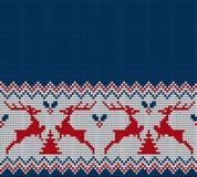 Gestricktes Weihnachts- und des neuen Jahresmuster Stockbild
