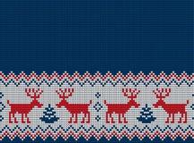 Gestricktes Weihnachts- und des neuen Jahresmuster Stockfotografie