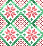 Gestricktes Weihnachts- und des neuen Jahresmuster Lizenzfreies Stockbild