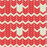 Gestricktes Wollbuntes nahtloses Muster mit Verzierung Stockbild
