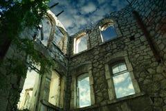 Gestript huis in Yalta, de Oekraïne Stock Foto's