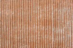 Gestripte concrete textuur Concrete bruine strook Achtergrond stock fotografie