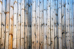 Gestripte houten muurachtergrond Royalty-vrije Stock Afbeeldingen
