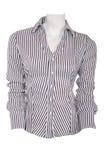 Gestripte vrouwelijke blouse Royalty-vrije Stock Foto