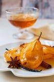 Gestroopte peren met kruiden Royalty-vrije Stock Afbeeldingen