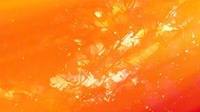 Gestructureerde fractal achtergrond met fractal patroon en motieven van samengevatte natuurlijke forestscapes Brand effet royalty-vrije illustratie