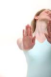 gesture теперь стоп Стоковое фото RF