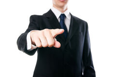 Gesture of businessman stock photography
