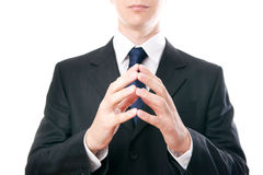Gesture of businessman Royalty Free Stock Photos