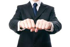 Gesture of businessman Stock Photos